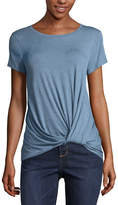 EYESHADOW GIRLS Eyeshadow Short Sleeve Round Neck T-Shirt-Womens Juniors