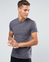 Jack Wills T-Shirt With Pocket In Slim Fit In Charcoal Slub