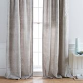 west elm Allover Crosshatch Velvet Jacquard Curtain