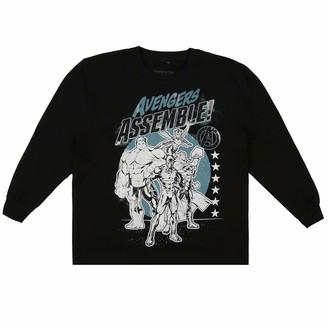 Marvel Boy's Team Avengers Long Sleeve Top T-Shirt