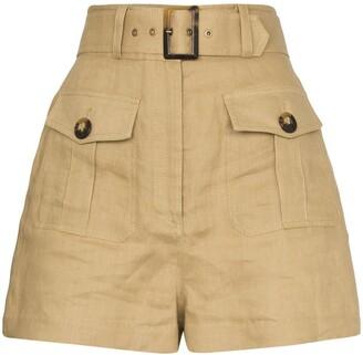 Zimmermann buttoned safari shorts