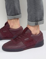 Reebok Workout Low Leather 'jam' Trainers In Red Bd2531