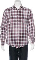 Michael Bastian Plaid Linen Shirt