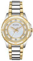 Bulova Ladies Two Tone Diamond Dial Watch