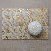 Graham and Green Gold Chevron Small Cowhide Rug