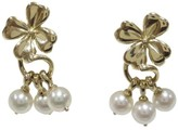 Mikimoto 18K Yellow Gold & Akoya Pearl Earrings