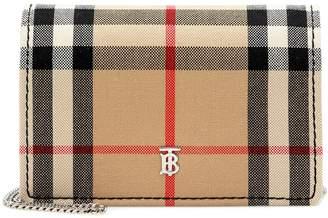Burberry Vintage Check canvas card holder