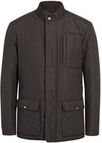 Pal Zileri Dark Brown Quilted Shell Jacket