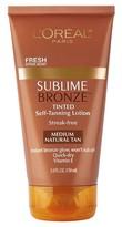 L'Oréal® Paris Sublime Bronze Tinted Self-Tanning Lotion Medium Natural Tan 5 Fl Oz