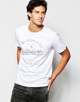 Quiksilver T-shirt With Boarding Apparel Print - White