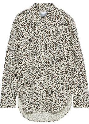 Current/Elliott The Sal Leopard-print Cotton-poplin Shirt