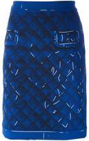 Moschino trompe-l'oeil skirt - women - Polyester/Rayon/Triacetate - 40