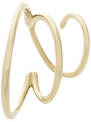 Maria Black 14kt yellow gold Mad Mouse twirl earring