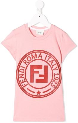 Fendi Kids logo printed T-shirt
