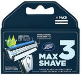 Boots Max Shave 3 Triple Blade Shaving System Refill 4 Pack