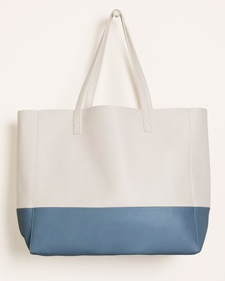 Chico's Classic Faux-Leather Colorblock Tote