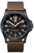 Luminox Atacama Field Day Date Men's Quartz watch with Black dial featuring LLT light Technology 45 millimeters Stainless Steel case and Brown Leather Strap XL.1929