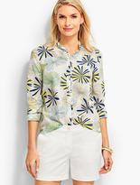 Talbots Looped Petals Ruffled-Collar Shirt