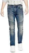 GUESS Men's Slim Tapered Moto Jeans
