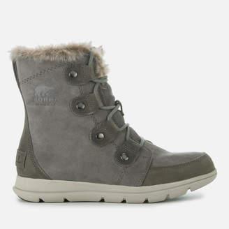 Sorel Women's Explorer Joan Hiker Style Boots - Quarry Black