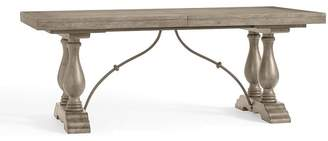 Pottery Barn Lorraine Extending Dining Table, Gray Wash
