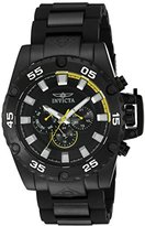 Invicta Men's 'Corduba' Quartz Stainless Steel and Polyurethane Automatic Watch, Color:Black (Model: 21782)