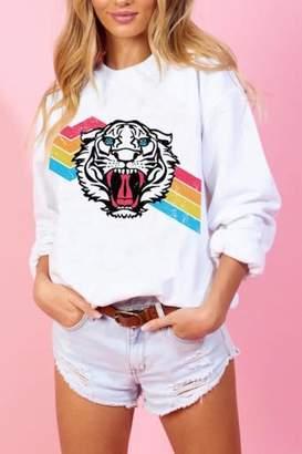 Blue Buttercup Tiger Rainbow Sweatshirt