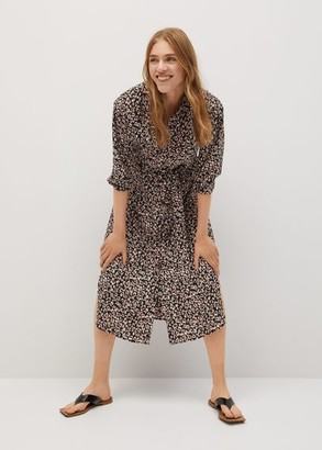 MANGO Animal print dress pink - 2 - Women
