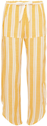 Lemlem Fly Away Asymmetric Striped Cotton-gland Gauze Pants