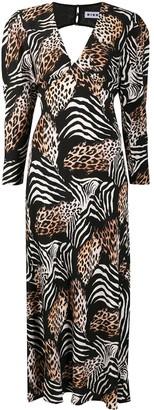 Rixo Alicia animal-print dress