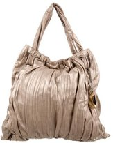 Donna Karan Metallic Leather Tote