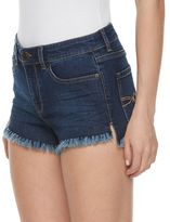 Mudd Juniors' Fray Hem Jean Shortie Shorts