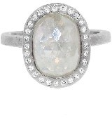 Todd Reed Large Oval White Fancy Diamond Solitaire - Palladium