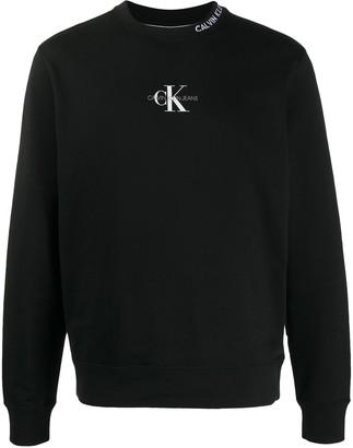 Calvin Klein Jeans Monogram-Print Cotton Sweatshirt