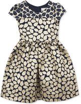 Rare Editions Brocade Leaf Dress, Big Girls (7-16)