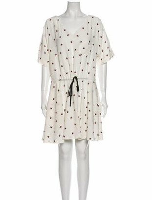 Band Of Outsiders Silk Mini Dress w/ Tags White