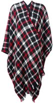Moschino plaid cape - women - Polyamide/Virgin Wool - One Size