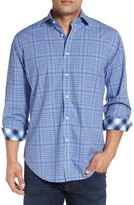 Thomas Dean Classic Fit Plaid Sport Shirt