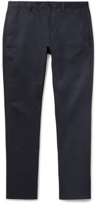 A.P.C. Navy Classic Cotton-Gabardine Chinos