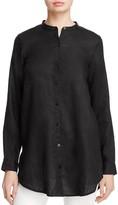 Eileen Fisher Organic Linen Mandarin Collar Shirt