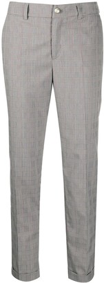 Liu Jo Plaid Tapered-Leg Trousers