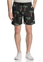 DUVIN Avenue Palm Print Swim Trunks