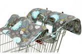 The Peanut Shell High Chair and Shopping Cart Cover in Grey Medallion