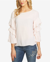 CeCe Tiered-Sleeve Top