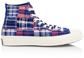 Converse Twisted Prep Chuck 70 Madras-Print Sneakers
