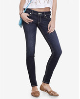 Express dark low rise thick stitch jean legging