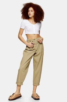 Topshop Khaki Tapered Pants