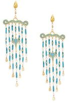 Azaara Romantic Multi-Stone Chandelier Earrings