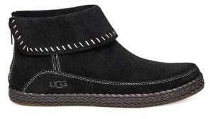 UGG Varney Leather Foldover Moc Booties
