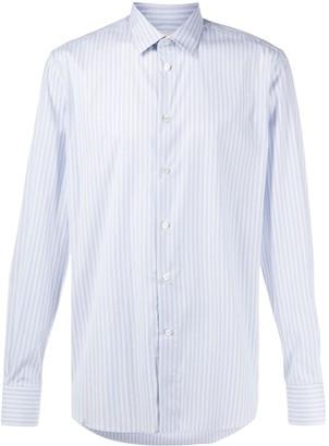 Alexander McQueen Striped Collared Shirt